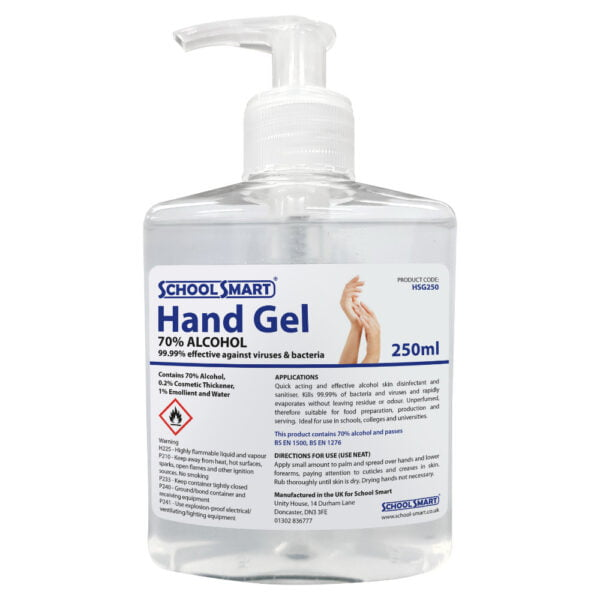 250ml hand sanitiser gel