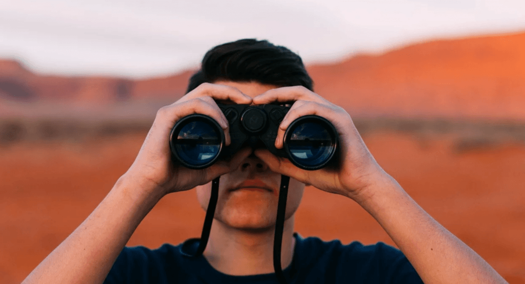 Binoculars Looking Man Free photo on Pixabay