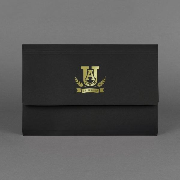 Document Folder Black & Gold