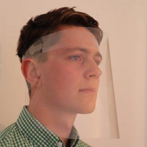 Reuseable slim protective visor